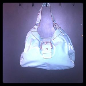Coach Turquoise Patent Leather handbag